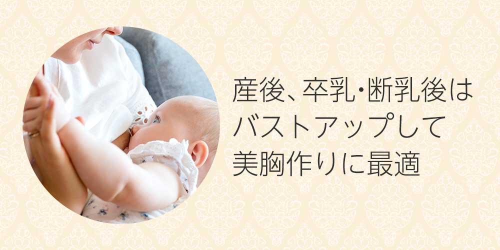 産後、卒乳・断乳後はバストアップして美胸作りに最適な時期